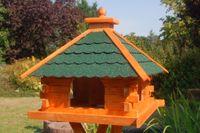 XXL Futterhaus Vogelhaus mit Bitumschindeln versch. Dachfarben wählbar mit oder ohne Solarbeleuchtung V20 bitum XXL Bild 4