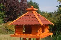 XXL Futterhaus Vogelhaus mit Bitumschindeln versch. Dachfarben wählbar mit oder ohne Solarbeleuchtung V20 bitum XXL Bild 3