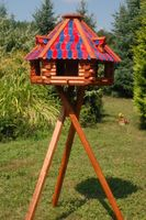 XXL Luxus Vogelhaus mit Solarbeleuchtung absoluter Blickfang, Vogelfutterhaus aus Holz, V13 XXL mit Ständer Bild 4