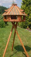 XXL Luxus Vogelhaus mit Solarbeleuchtung absoluter Blickfang, Vogelfutterhaus aus Holz, V13 XXL mit Ständer Bild 2
