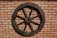 Dekoratives Wagenrad 48, 70 oder 100 cm, rustikal, Holz, verschiedene Farben 004