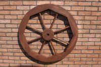 Dekoratives Wagenrad 48, 70 oder 100 cm, rustikal, Holz, verschiedene Farben 002