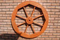 Dekoratives Wagenrad 48, 70 oder 100 cm, rustikal, Holz, verschiedene Farben 003