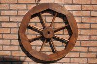 Dekoratives Wagenrad 48, 70 oder 100 cm, rustikal, Holz, verschiedene Farben 005