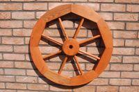 Dekoratives Wagenrad 48, 70 oder 100 cm, rustikal, Holz, verschiedene Farben 006