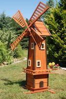 Windmühle, Turm, Windmühlenturm, Windmühlen, Holz, Garten, Deko, 1,55 m wahlweise mit Solar