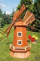 Garten-Windmühle aus Holz – Höhe 1,15 Meter Bild 3