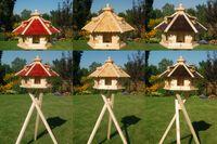 Vogelhaus Vogelhäusschen Futterhaus, verschiedene Farben, Holzschindeldach natur V18   001