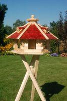 XXL Vogelhaus Vogelhäusschen Futterhaus, verschiedene Farben, Holzschindeldach natur V18   008