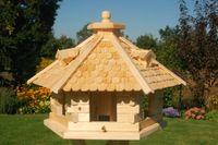 XXL Vogelhaus Vogelhäusschen Futterhaus, verschiedene Farben, Holzschindeldach natur V18   004