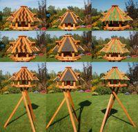 XL - XXL Luxus Vogelhaus, wahlw. mit Solar / Ständer, absoluter Blickfang, Vogelfutterhaus aus Holz, V13
