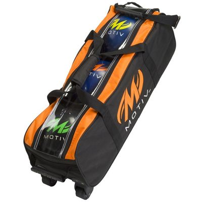 3 Ball-Bowlingtasche Motiv Clear View Triple BlackOrange