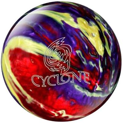Bowlingball Reaktiv EBONITE Cyclone Red/Purple/Yellow – Bild 1