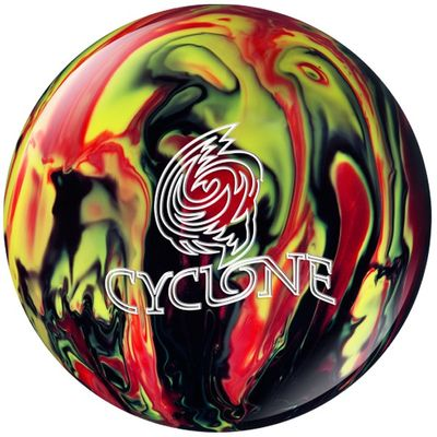 Bowlingball Reaktiv EBONITE Cyclone Black/Red/Yellow – Bild 1