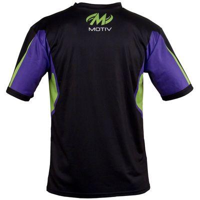 MOTIV Poloshirt Xtreme Sport GreenPurpleBlack – Bild 2