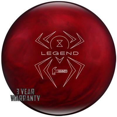 Bowlingball Hammer Black Widow Red Legend