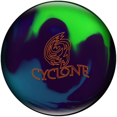 Bowlingball Reaktiv EBONITE Cyclone Purple/Teal/Lime – Bild 1