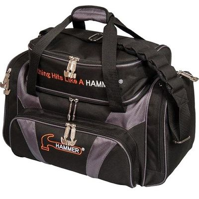 Bowlingtasche Hammer Double Tote DeLuxe Black/Carbon
