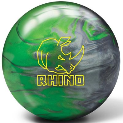 Bowlingball Brunswick Rhino Green/Silver Pearl – Bild 1