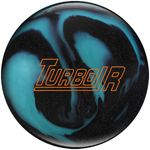 Bowlingball Reaktiv EBONITE Turbo R BlackSparkleAqua 001