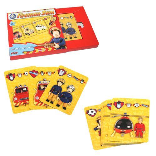 Quartett Kartenspiel | 32 Karten | Feuerwehrmann Sam | Kinder Legespiel