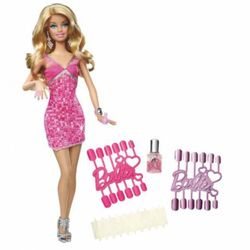 Barbie - Loves Glitzer Puppe rosa
