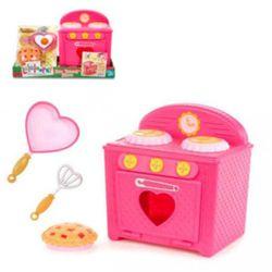 Spielset Ofen | Lalaloopsy | Pfanne Herzform | Kuchen | rosa | Puppe | 30 cm 001