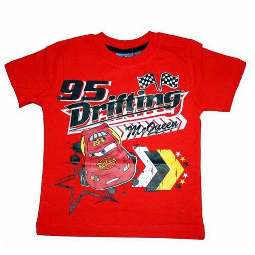 T-Shirt rot | Disney Cars | Größe 98 - 128 | Baumwolle | Rundhalsausschnitt