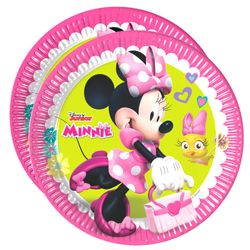 Party-Teller Mouse | 23 cm | 8 Stück | Disney Minnie Maus | Kinder Geburtstag
