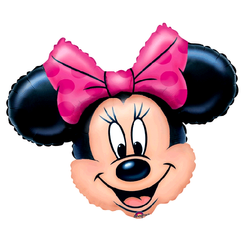XL Folien Ballon Mouse | 71 x 58 cm | Disney Minnie Maus | Party Luftballon