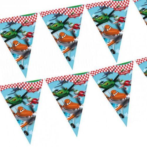 Wimpel-Kette | Girlande Banner 2,30 m | Disney Planes | Kinder Party Geburtstag
