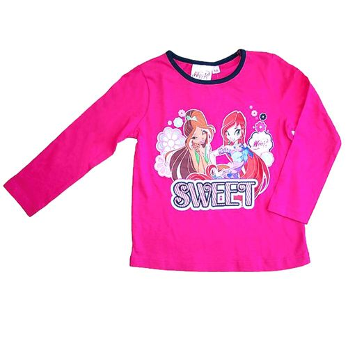 Schlafanzug | Winx Club | Pyjama Kinder |  Nachtwäsche pink blau | Gr. 98-128 – Bild 2