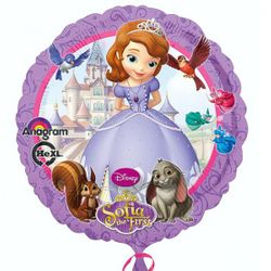 Disney Princess - Sofia die Erste - Party Folien Ballon 43 cm