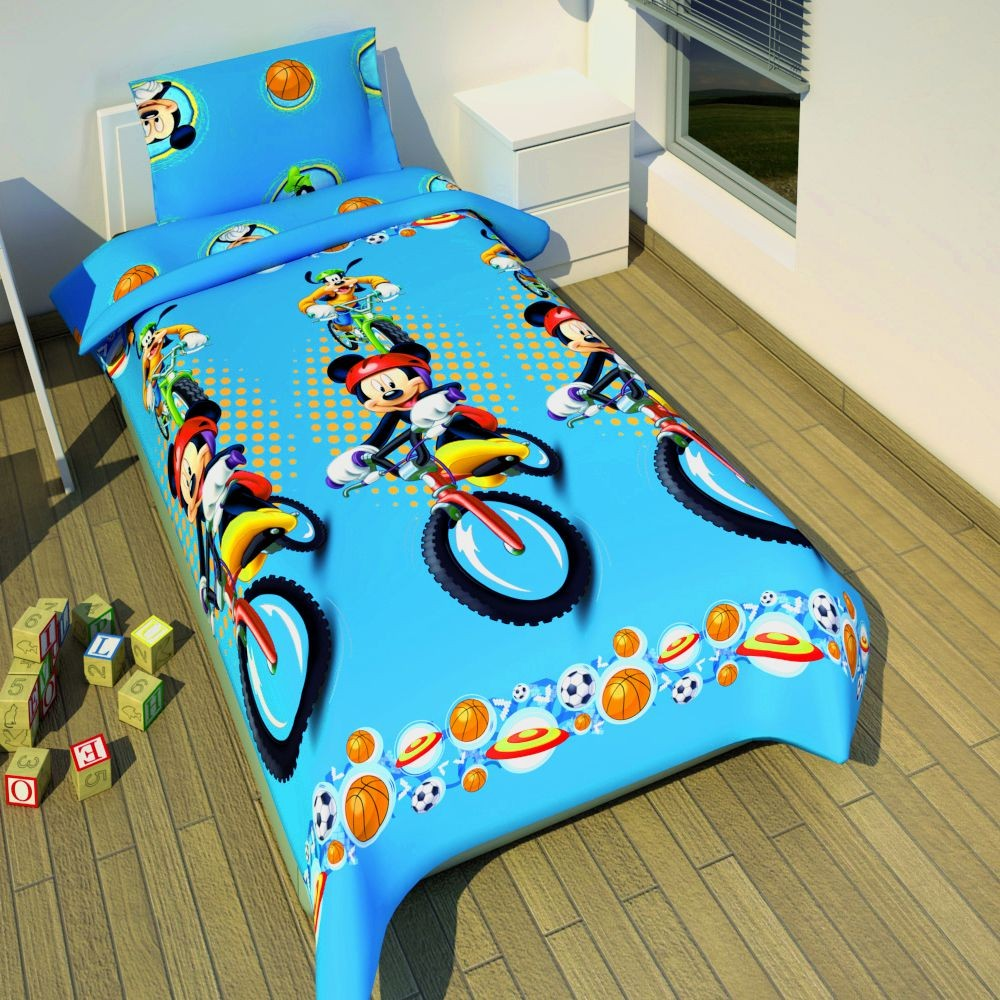bettw sche mickey mouse mikrofaser 140 x 200 cm micky. Black Bedroom Furniture Sets. Home Design Ideas