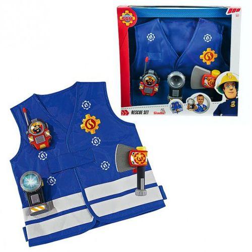 Set Rettung | Feuerwehrmann Sam | Weste & Zubehör | Kinder Feuerwehr | Simba – Bild 1