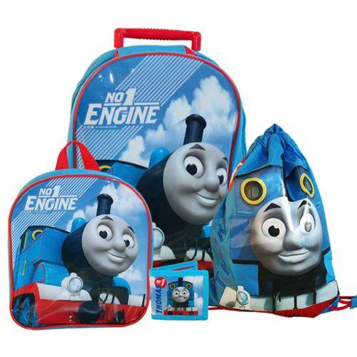Kinder Reise Set | 4 teilig | Thomas & seine Freunde | Trolley Rucksack – Bild 1