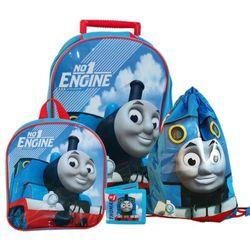Kinder Reise Set | 4 teilig | Thomas & seine Freunde | Trolley Rucksack 001