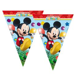 Micky Maus - Party Wimpel Kette Girlande Flaggenbanner 2,3 m Mickey Mouse