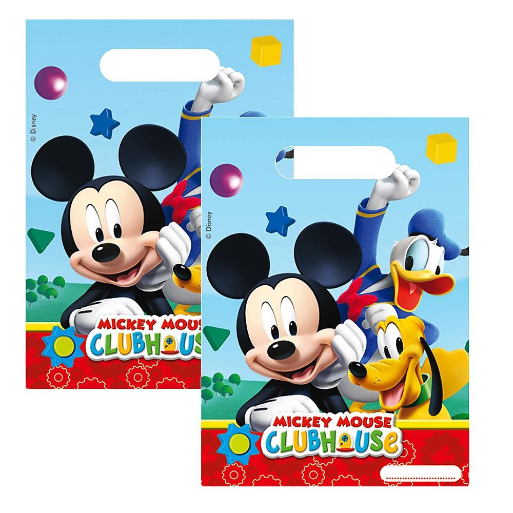 geschenkt ten mickey mouse 6 beutel micky maus kinder geburtstag party micky maus. Black Bedroom Furniture Sets. Home Design Ideas