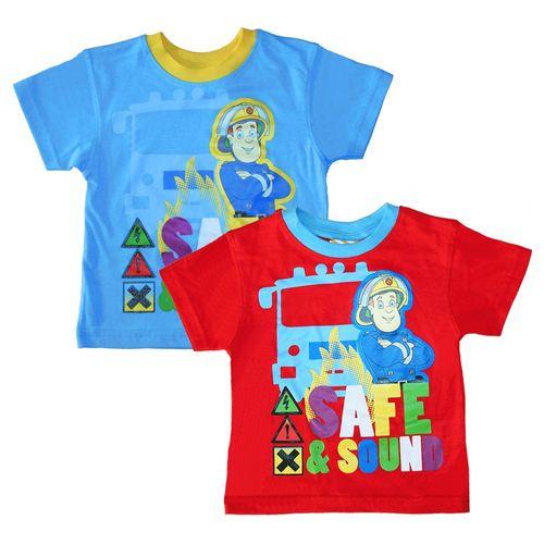 T-Shirt Safe & Sound | Größe 92 - 116 | Feuerwehrmann Sam | Kinder Jungen Shirt – Bild 1