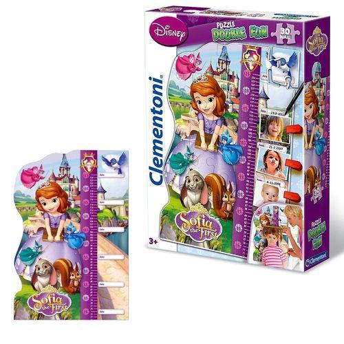 Puzzle Messlatte | 30 Maxi Teile | 62x42 cm | Sofia die Erste | Disney Princess
