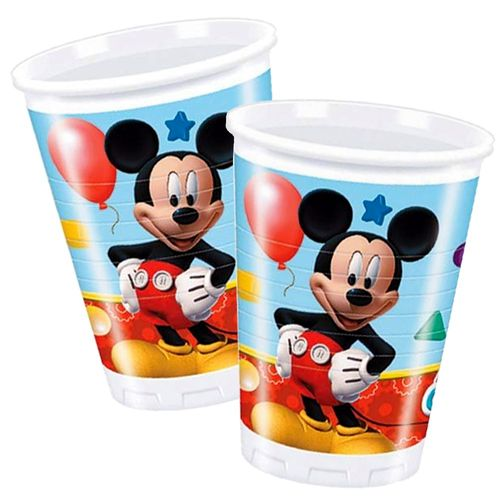 Party-Becher Mickey Mouse | 8 Stück | Micky Maus | Kinder Geburtstag
