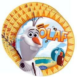 Party-Teller Olaf | 23 cm | 8 Stück | Disney Eiskönigin | Frozen | Geburtstag 001
