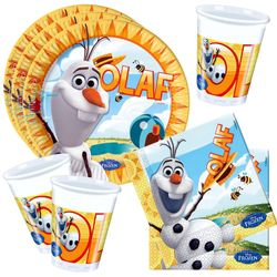 Set Party Olaf | Disney Eiskönigin | Frozen | Teller Becher Servietten 001