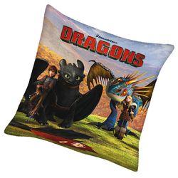 Freunde | Kinder Kissen 40 x 40 cm | DreamWorks Dragons | Dekokissen 001