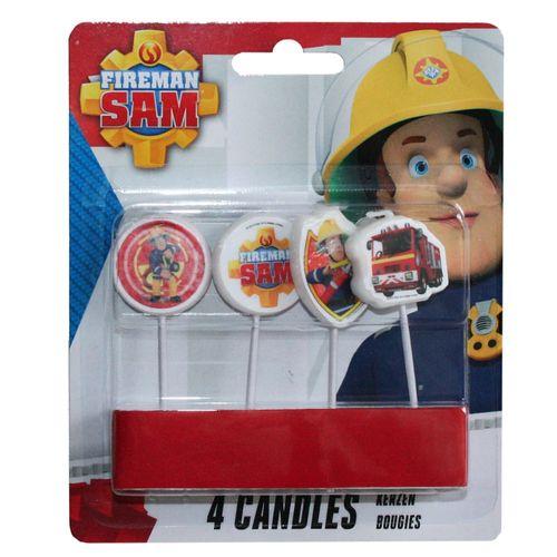 Torten Kerzen | Feuerwehrmann Sam | Kinder Party Set | Kuchen-Dekoration