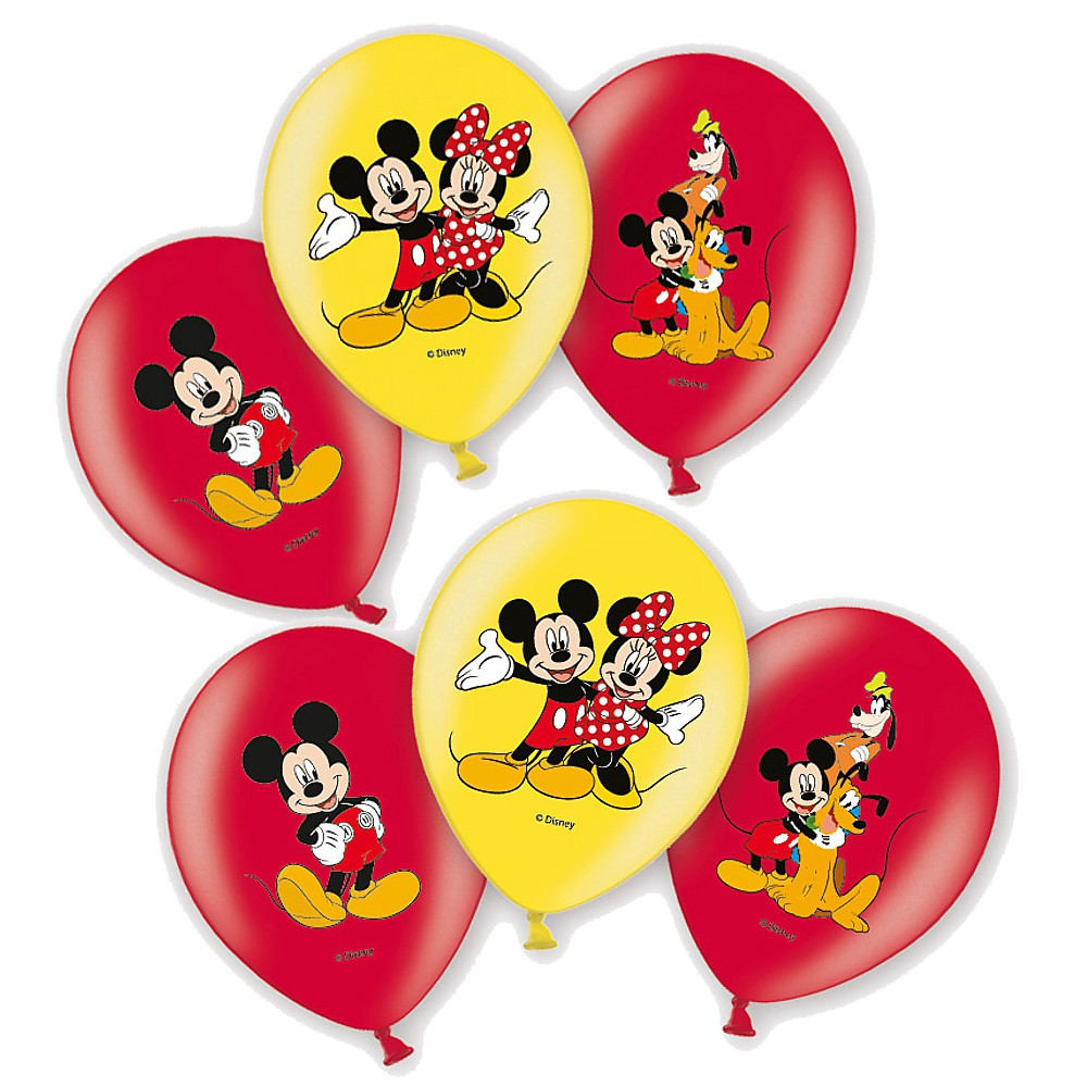 party ballons mickey mouse 6 stk disney micky maus luftballons geburtstag micky maus. Black Bedroom Furniture Sets. Home Design Ideas