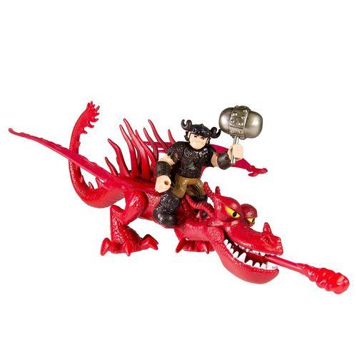 Reiter Rotzbakke & Drache Hakenzahn   Action Spiel Set   DreamWorks Dragons – Bild 3