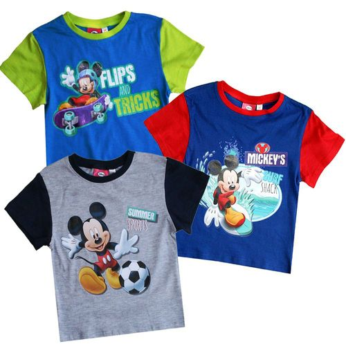 T-Shirt Mickey Mouse | Micky Maus | Baumwolle | Farbauswahl | Größe 86 - 116 – Bild 1