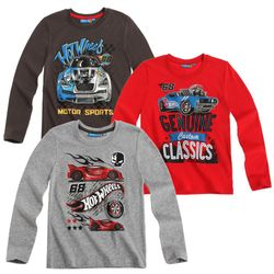 Hot Wheels - Kinder Jungen Langarmshirt Shirt (Gr. 104-140) – Bild 1